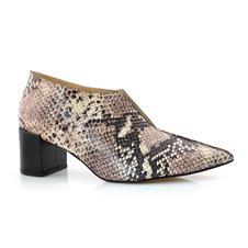 Ankle Boots De Couro Com Decote Suzzara