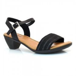 Sandália De Salto Baixo Usaflex