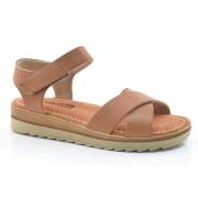 Sandália Flatform Marrom Comfortflex