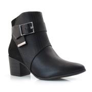 Ankle Boots De Salto Bloco Ramarim