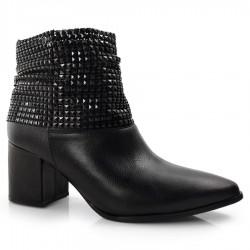 Imagem - Ankle Boots De Couro E Salto Bloco Suzzara cód: 0000025321074