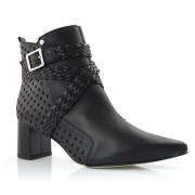 Imagem - Ankle Boots De Couro E Salto Bloco Tanara cód: 0000036819041