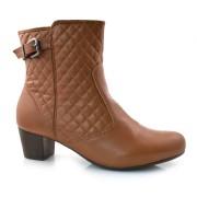 Ankle Boots De Salto Baixo Manuelly