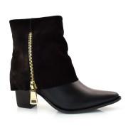 Imagem - Ankle Boots De Couro E Salto Bloco Suzzara cód: 0000063019032