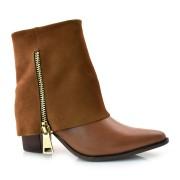 Imagem - Ankle Boots De Couro E Salto Bloco Suzzara cód: 0000063119039