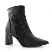 Imagem - Ankle Boots De Couro E Salto Bloco Tanara cód: 0000115519039