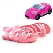 Imagem - Sandália Infantil Barbie Pink Car + Brinde cód: 0000124820119