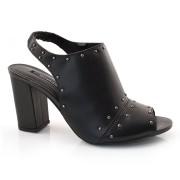 Open Boot De Couro Feminino Suzzara