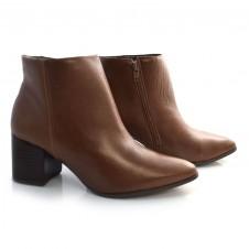 Imagem - Ankle Boots De Couro E Salto Bloco Suzzara cód: 0000128820030