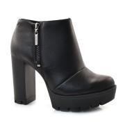 Ankle Boots De Couro Preto Tanara