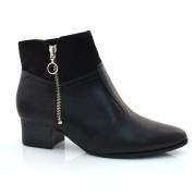 Ankle Boots De Salto Baixo Ramarim