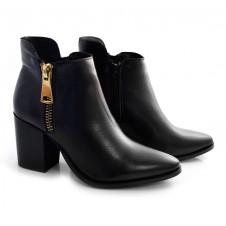 Imagem - Ankle Boots De Couro E Salto Bloco Suzzara cód: 0000138620033
