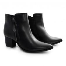 Imagem - Ankle Boots De Couro E Salto Bloco Suzzara cód: 0000139320031