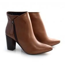 Imagem - Ankle Boots De Couro E Salto Alto Suzzara cód: 0000141920038