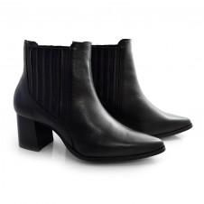 Imagem - Ankle Boots De Couro E Salto Bloco Suzzara cód: 0000144120039