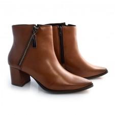 Imagem - Ankle Boots De Couro E Salto Bloco Suzzara cód: 0000146920033