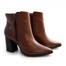Imagem - Ankle Boots De Couro E Salto Bloco Suzzara cód: 0000148220032