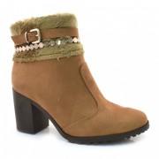 Ankle Boots De Salto Alto Bebecê