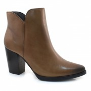 Ankle Boots De Couro E Salto Alto Suzzara