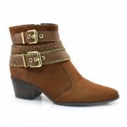 Ankle Boots De Salto Baixo Laserena