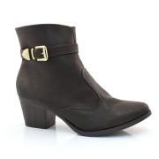 Ankle Boots De Salto Baixo Sandra