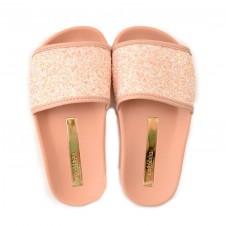 Chinelo Slide Com Glitter Infantil Molekinha - 25 Ao 34