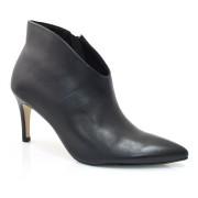 Ankle Boots De Couro E Salto Alto Cazzualen