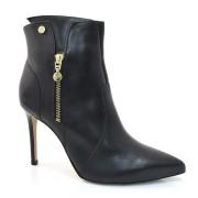 Ankle Boots De Couro E Salto Alto Verofatto