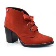 Imagem - Ankle Boots De Salto Alto Quiz 0445611218053 SUEDE LIZ VEMELHO(S)