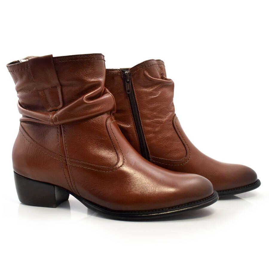 Imagem - Ankle Boots De Couro Suzzara cód: 0000140917039
