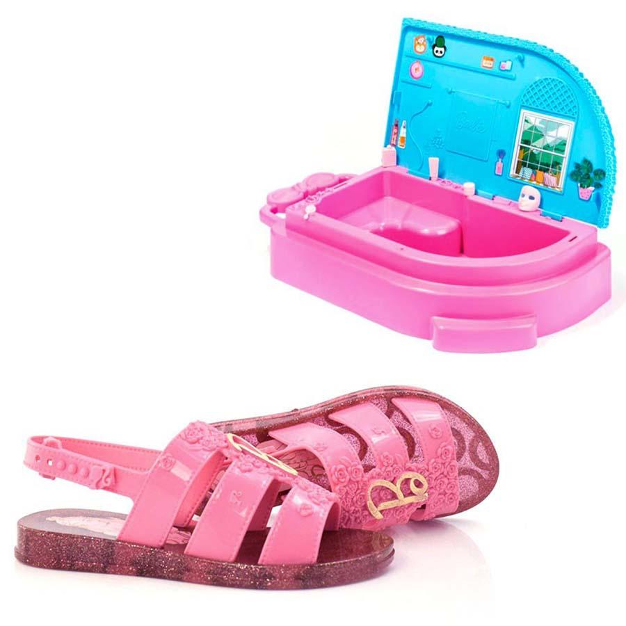 Imagem - Sandália Infantil Barbie Spa Com Brinde cód: 0000072321065