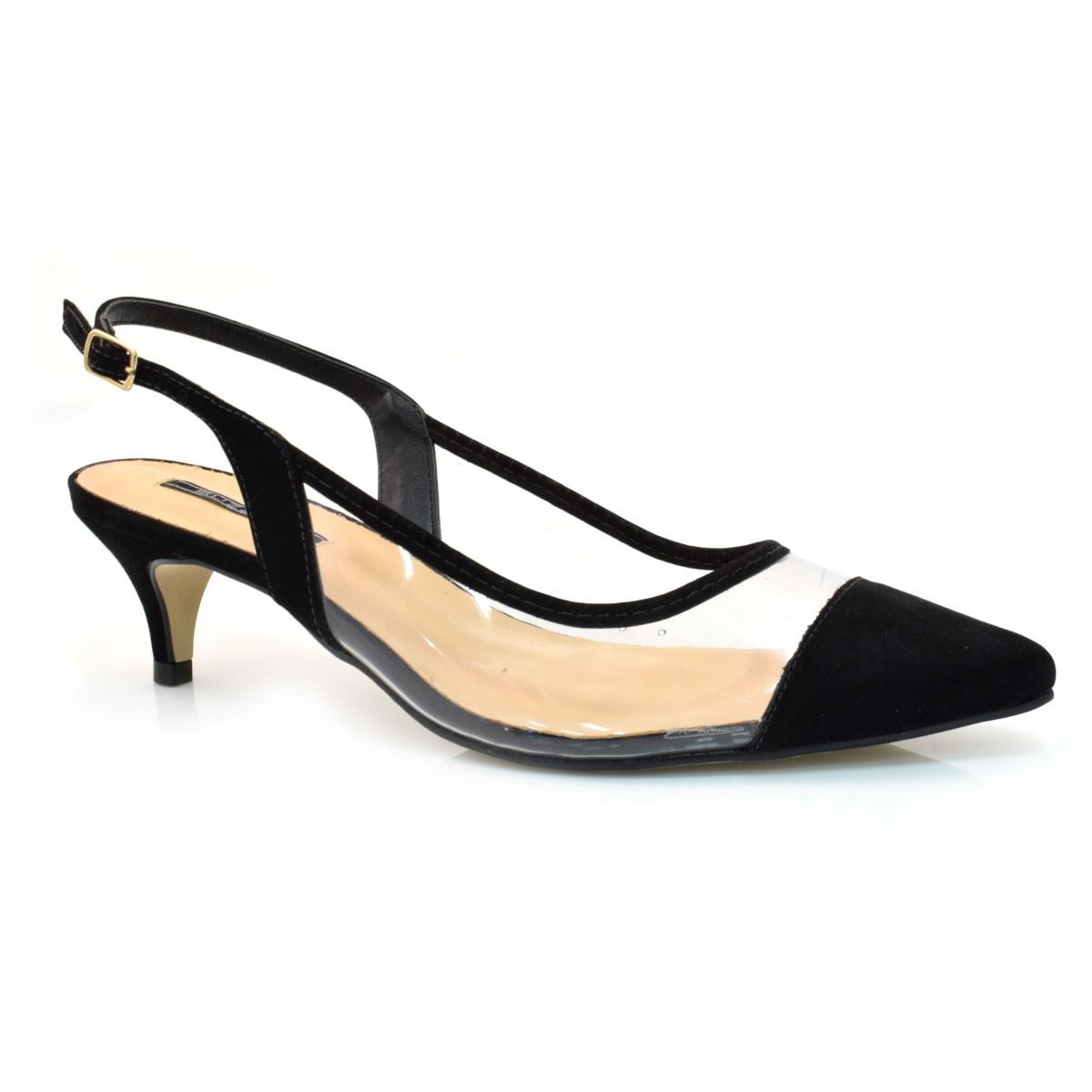 966b5ee842 Sapato Chanel De Salto Baixo Suzzara NB PRETO Com o Melhor Preço na ...