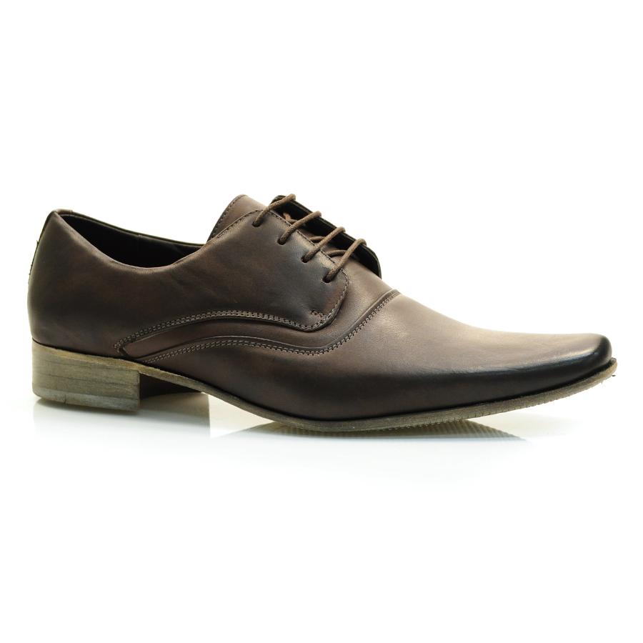 4f2f7d3b8 Sapato Masculino Social Scatamacchia STONE FUME/CAFE Com o Melhor ...