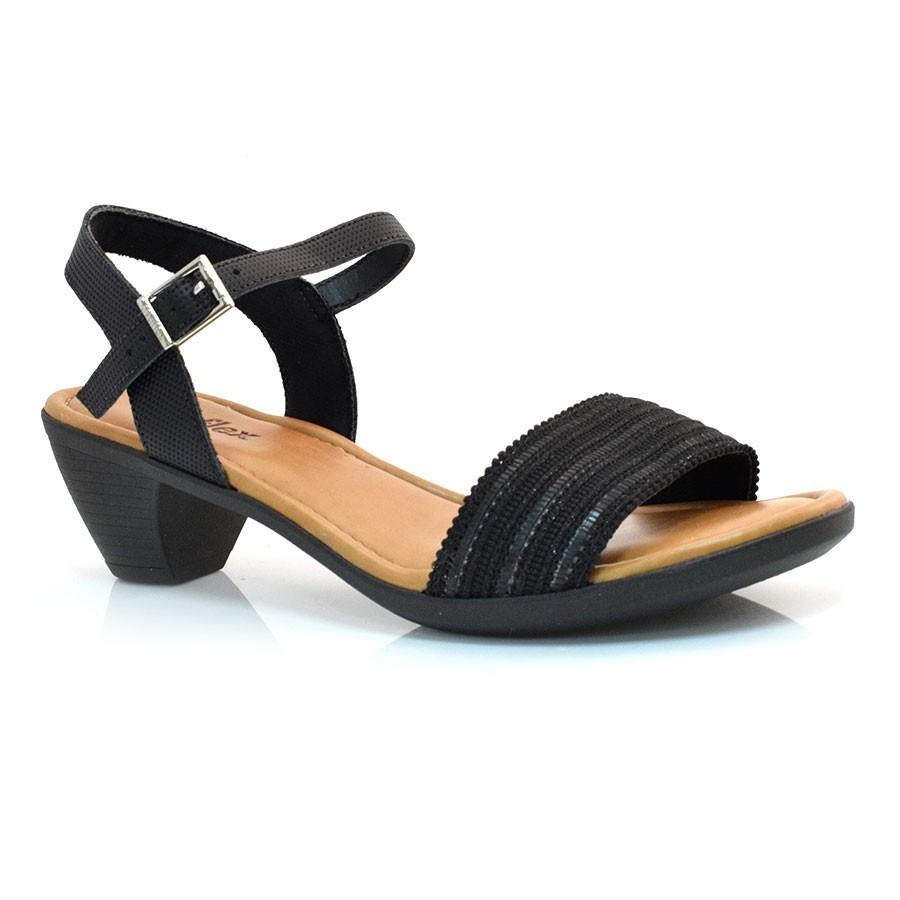 862506073c Sandália De Salto Baixo Usaflex PRETO PRETO-5 (T) Com o Melhor Preço ...