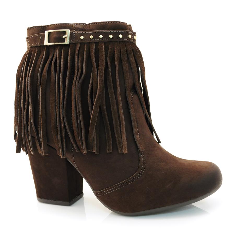 edab63e4d7 Ankle Boots Feminino Dakota NB CHOCOLATE CM CAFE Com o Melhor Preço ...