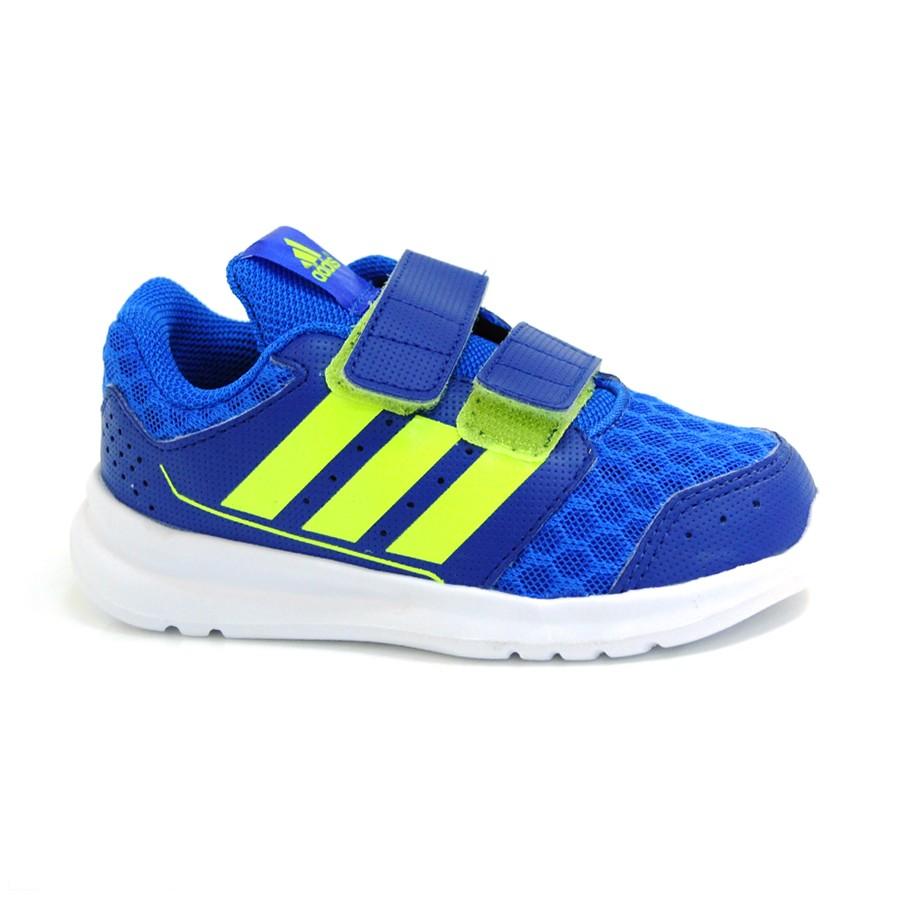 33444f64247 Tênis Adidas Azul Infantil Lk Sport AZUL VERDE LIMAO Com o Melhor ...