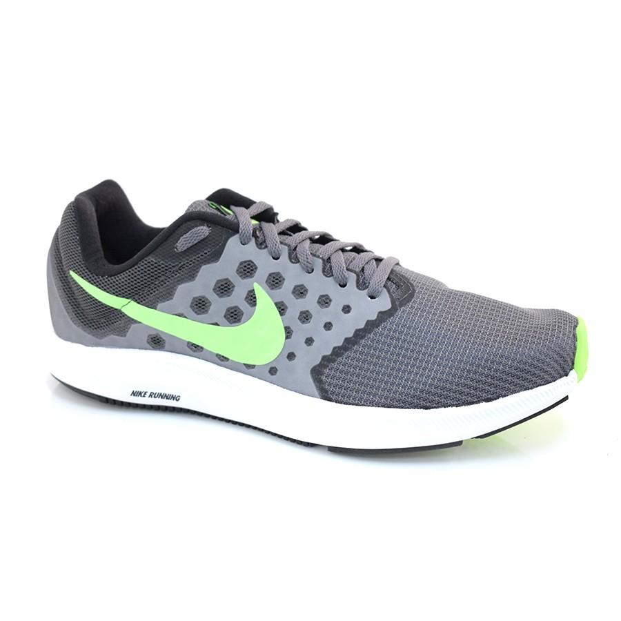Tênis Nike Downshifter 7 GRAFITE VERDE LIMAO Com o Melhor Preço na . ec0cfe6d28d4a