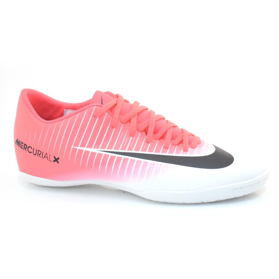 Tênis Indoor Nike Mercurial ROSA PRETO BRANCO Com o Melhor Preço na ... ec0ee5dedaa1a