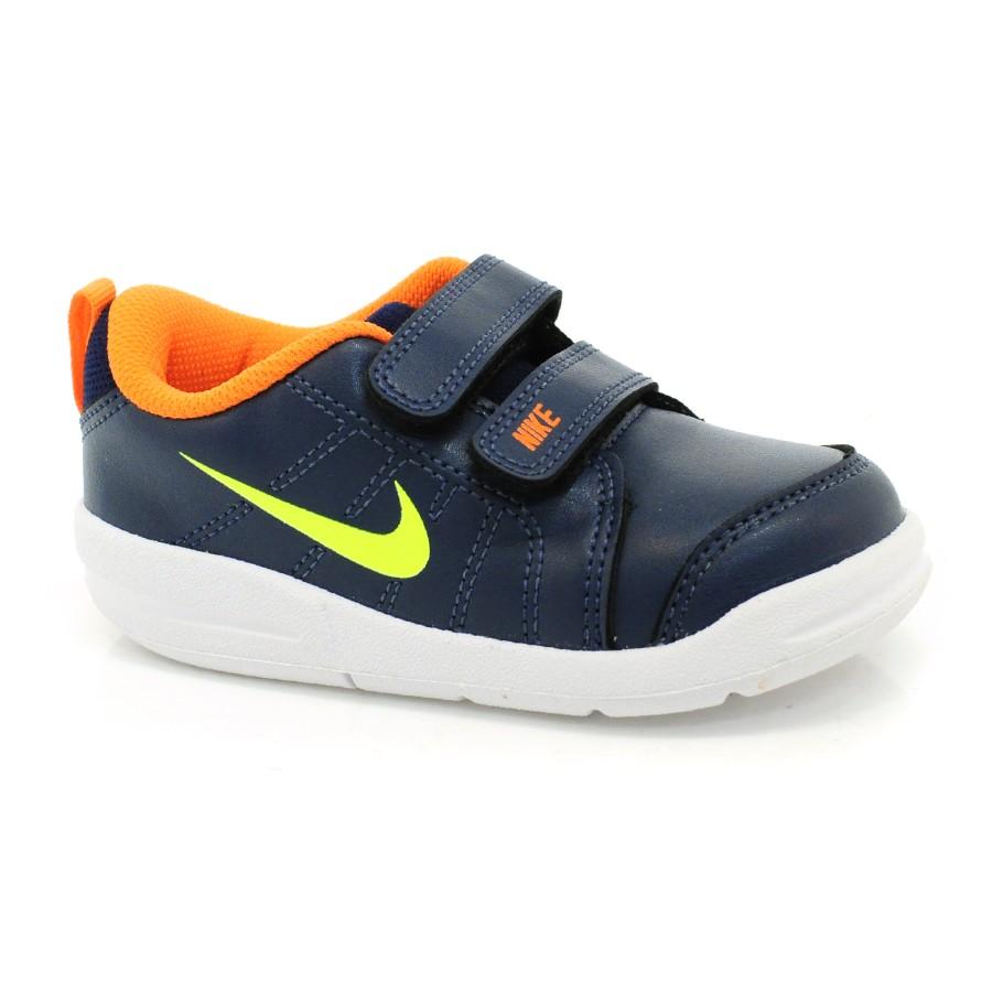 5e7a2ec254 Tênis Infantil Nike Pico Lt MARINHO AMARELO LJA Com o Melhor Preço ...