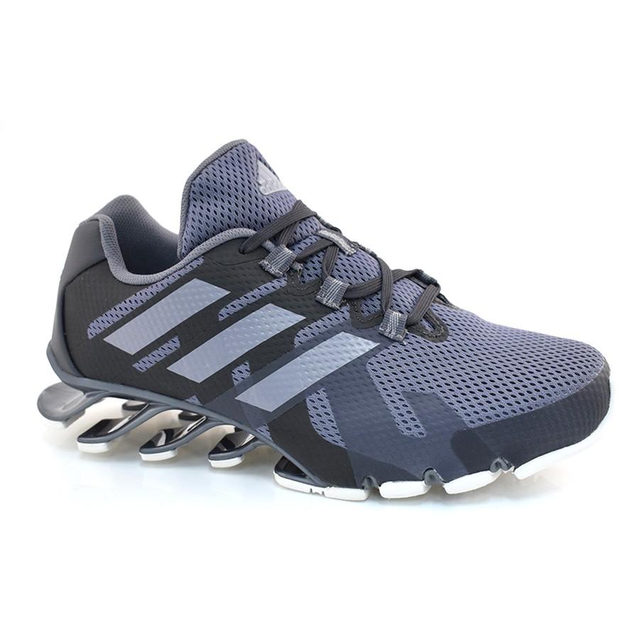 24886331a0 Tênis Masculino Adidas Springblade CINZA GRAFITE PRETO Com o Melhor ...