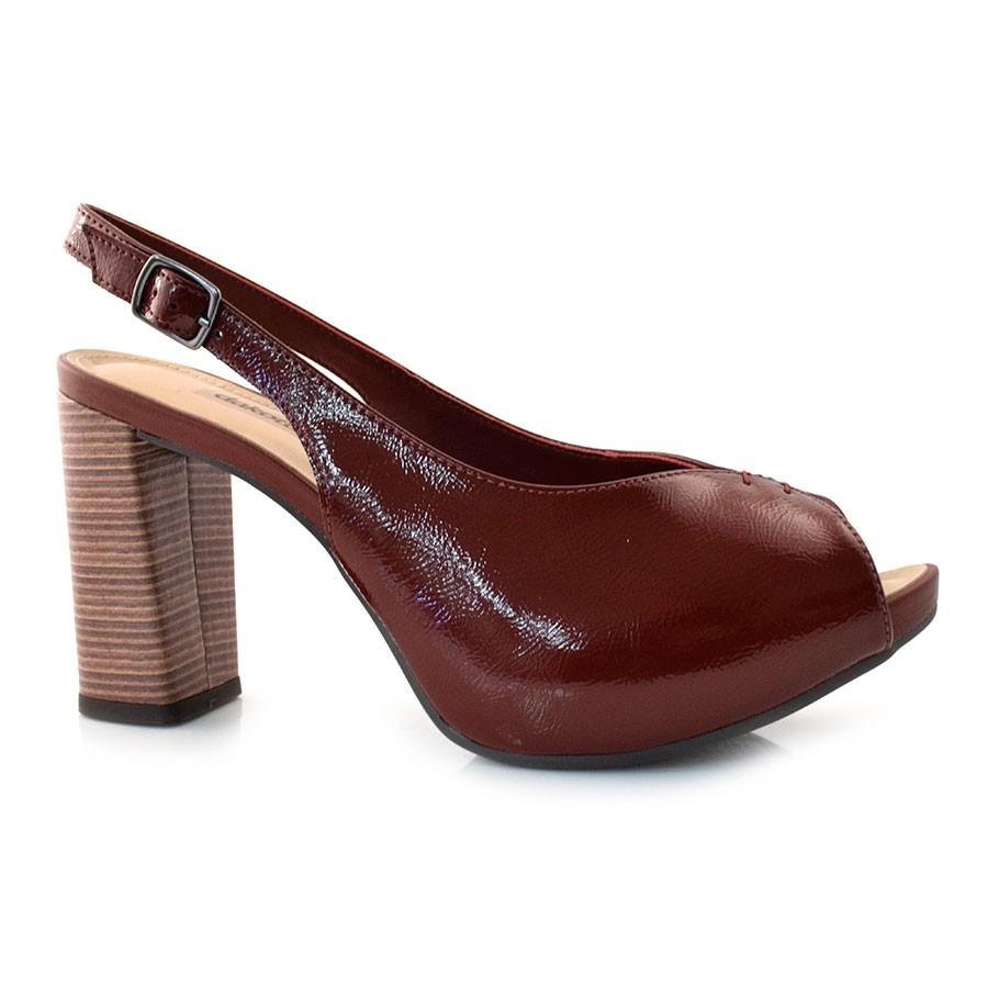 3bfa8c55b1 Peep Toe De Salto Bloco Dakota MERLOT 001 (S) Com o Melhor Preço na ...