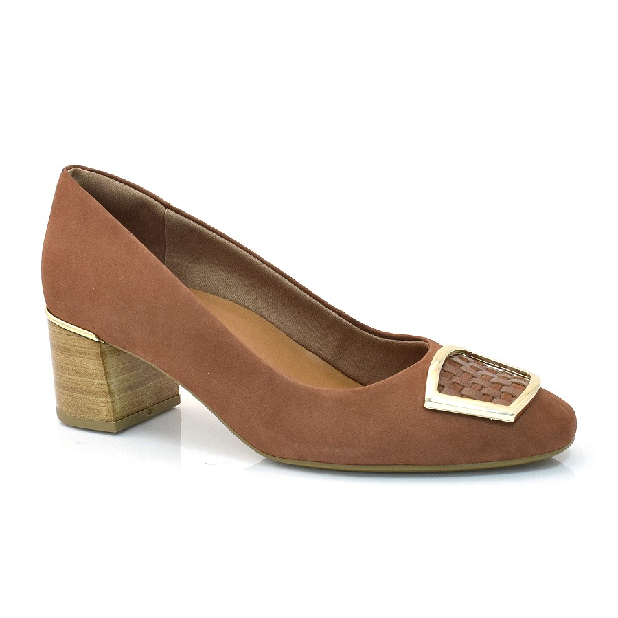 d573911bb564 Sapato Social Usaflex Dualcare VEL/MES CASTANHO (C) Com o Melhor ...