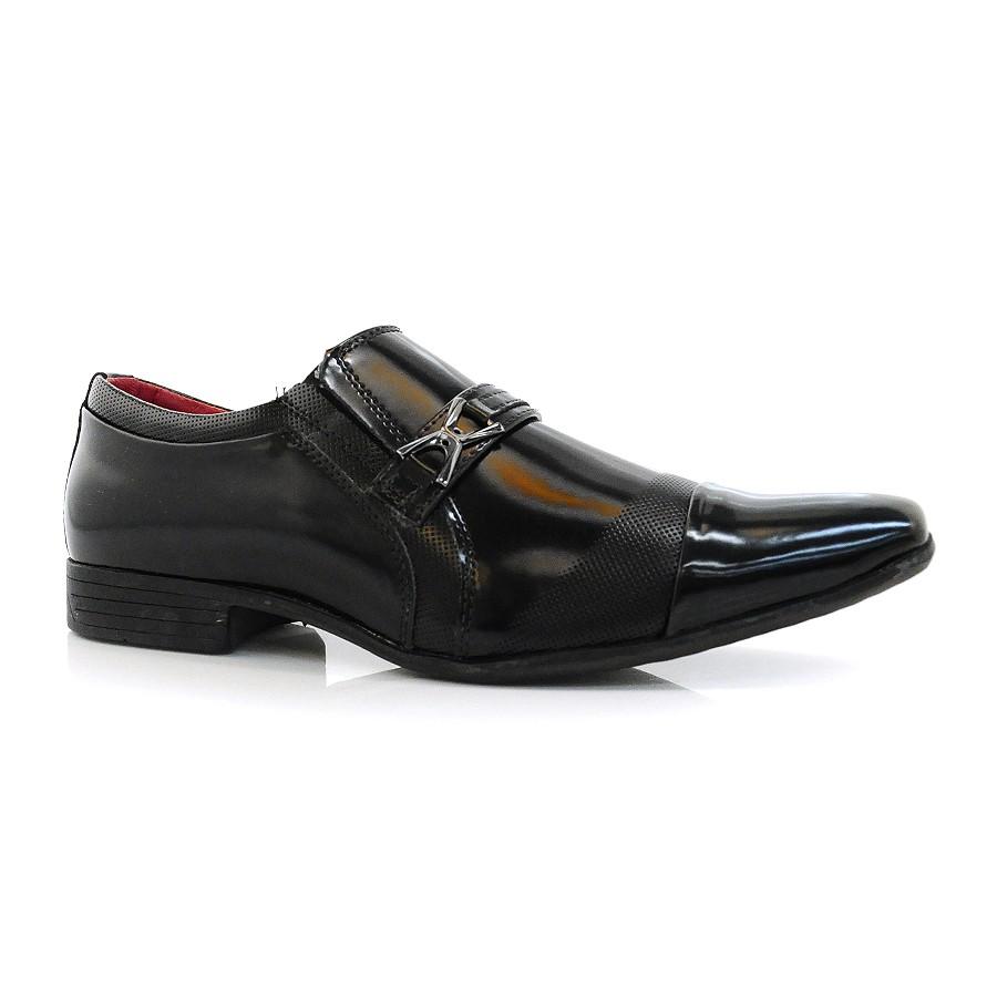 9f3862d41 Sapato Social Masculino Asturias Valecci BOX PRETO Com o Melhor ...