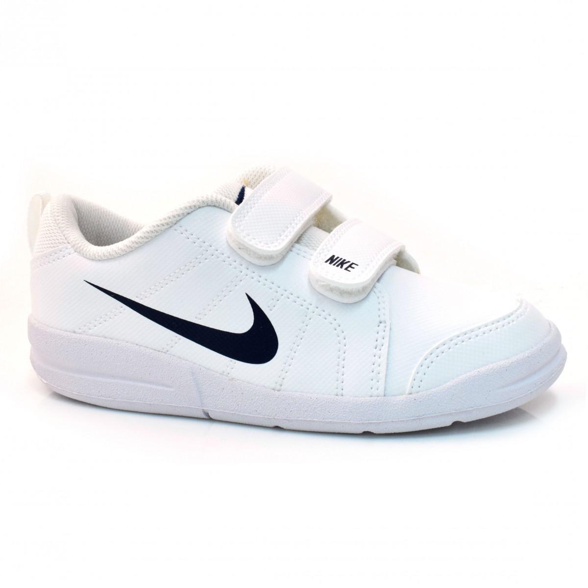Tênis Branco Infantil Nike Pico Lt BRANCO MARINHO Com o Melhor Preço ... d1eb12e624f72