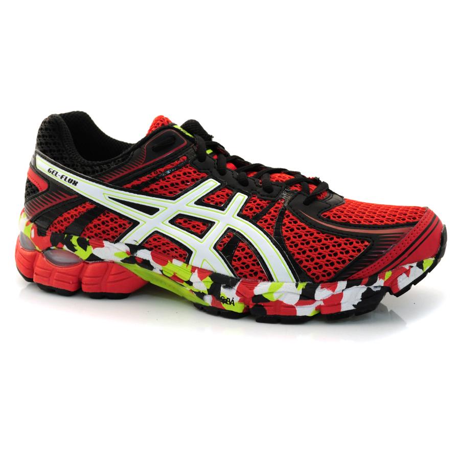 Tênis Running Asics Gel Flux VERMELHO BCO LIMAO Com o Melhor Preço ... 1883147d58764