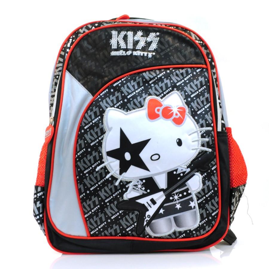 37737d4f9 Mochila Luxcel Hello Kitty PRETO/CINZA/VERMELHO Com o Melhor Preço ...