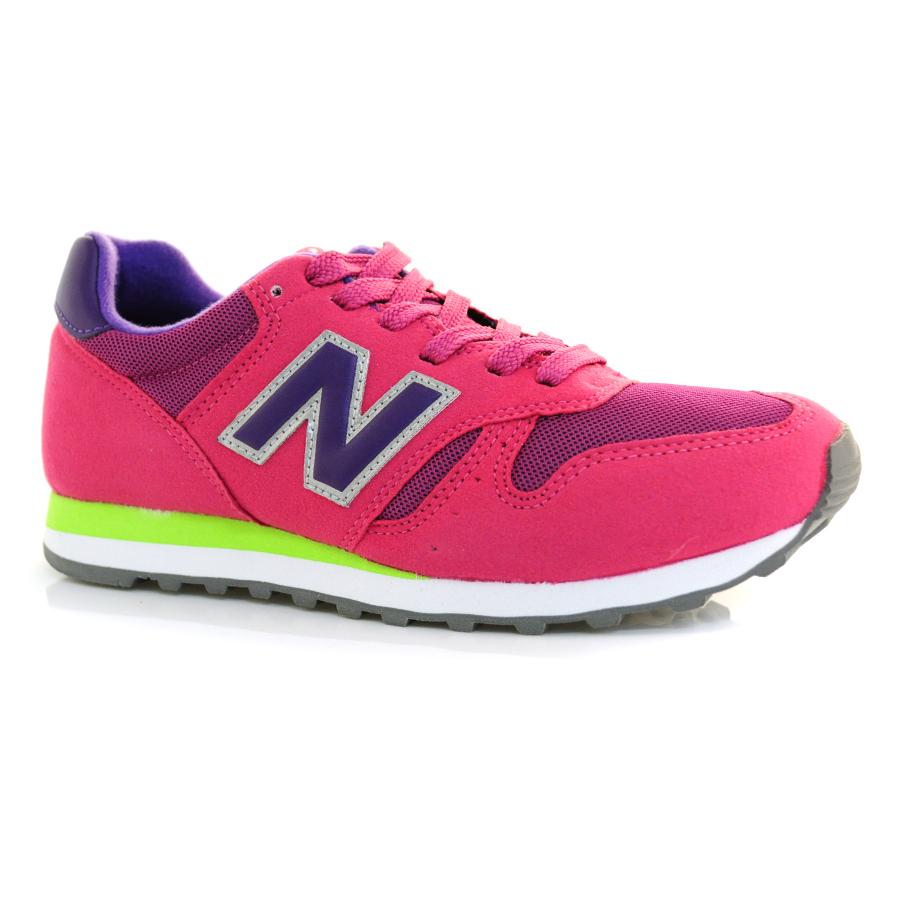 54f63a4b4 Tênis Feminino New Balance 373 ROSA/ROXO/VERDE Com o Melhor Preço na ...