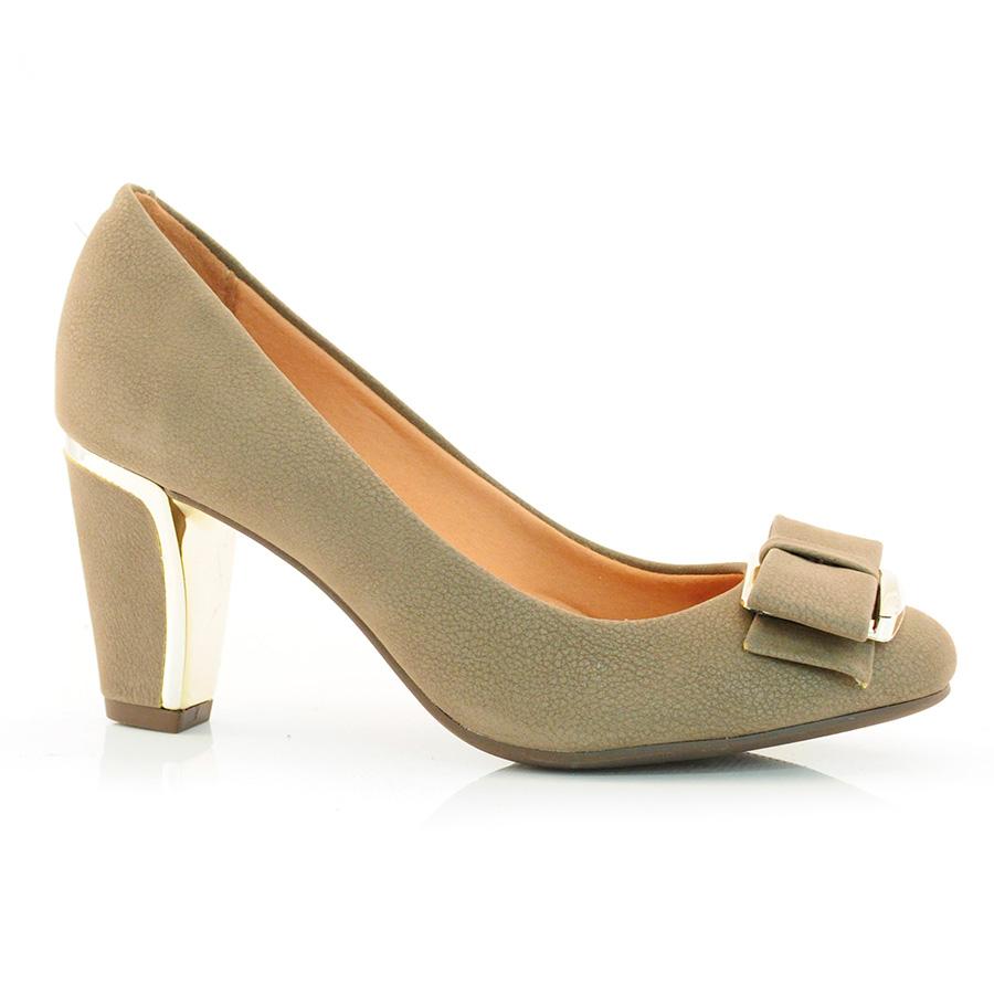 0fc28824f6 Sapato Scarpin Feminino Vizzano VELUDO CINZA Com o Melhor Preço na ...