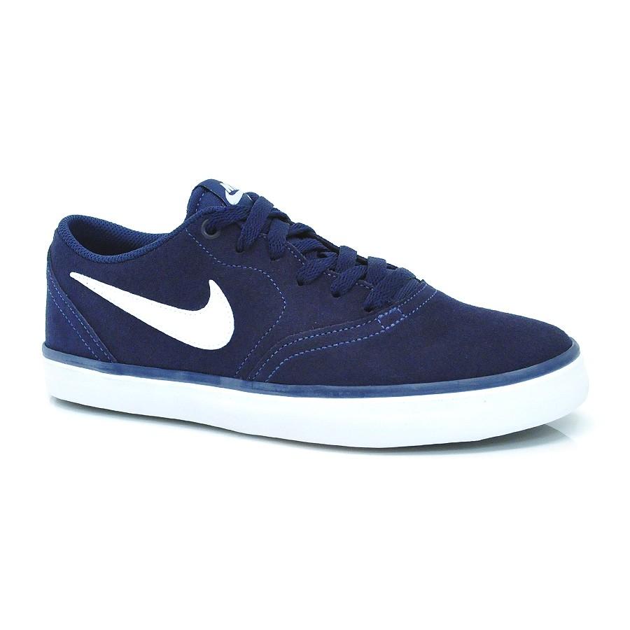 c603c7a582427 Tênis Azul Nike Sb Check Solar NB MARINHO BRANCO Com o Melhor Preço ...