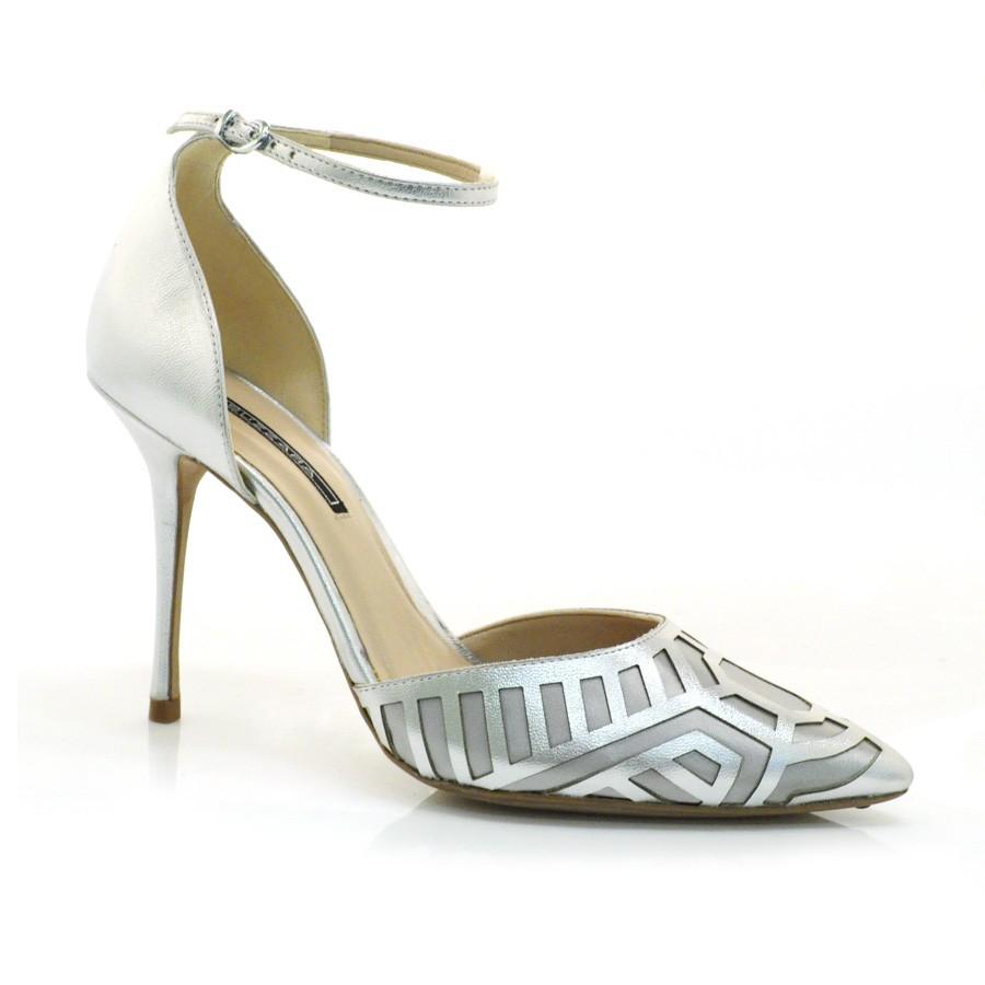 8e08942ea7 Sapato Scarpin Social De Festa Suzzara PRATA Com o Melhor Preço na ...